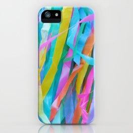Rainbow Streamers iPhone Case
