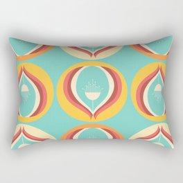 50's floral pattern V Rectangular Pillow