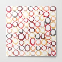 Oh Organic Watercolor Geometric Pattern Metal Print