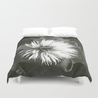 peony Duvet Covers featuring peony by half of ten