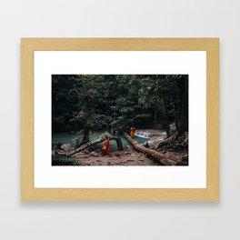 Erawan Waterfall, Thailand Framed Art Print