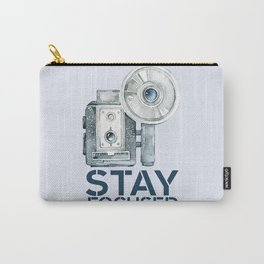 Stay Focused in Watercolor and Typography Carry-All Pouch