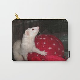 The Ivory Ferret and the Starry Red Bouncy House Carry-All Pouch