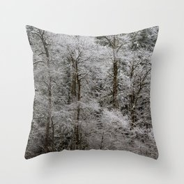 Snow Dusted Trees, No. 2 Throw Pillow
