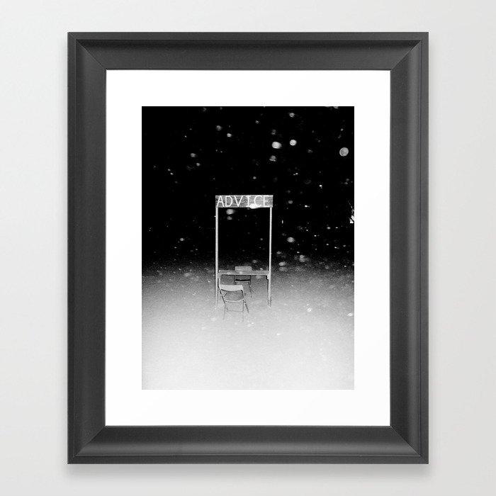 ADVICE Framed Art Print