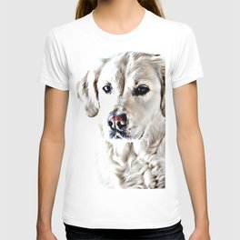 Drawing of a Yellow Lab T-shirt