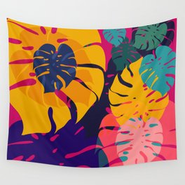 Aloha Floral Pop Art Pattern Wall Tapestry