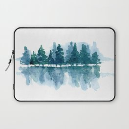 Smoky Mountain Trees Reflected Laptop Sleeve