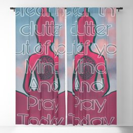 Pray Today Affirmation Blackout Curtain
