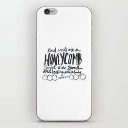 Honeycomb Proverbs iPhone Skin