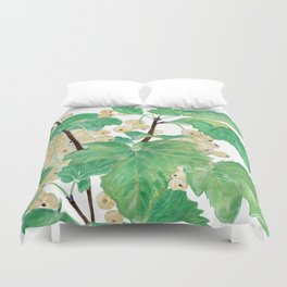 Branch of white currants Duvet Cover