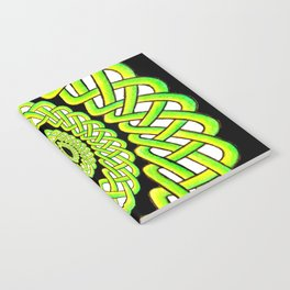 Green and Black Knotwork Notebook