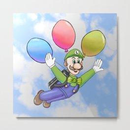 Luigi's Balloon World Metal Print