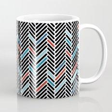 Herringbone Black and Blue #2 Coffee Mug