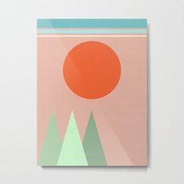 Orange sun Metal Print