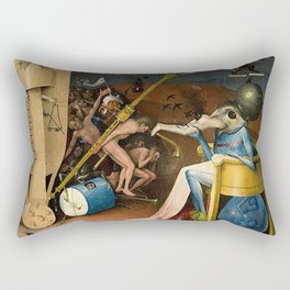 The Garden of Earthly Delights Bosch Hell Bird Man Rectangular Pillow