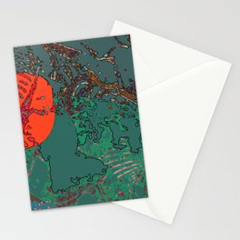 Geography Of My Mind - Digital Artwork  Stationery Cards
