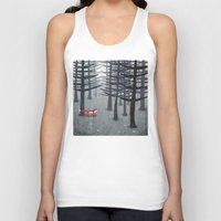 clear Tank Tops featuring The Fox and the Forest by Nic Squirrell
