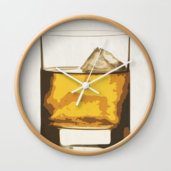 Old Scotch Whiskey Wall Clock