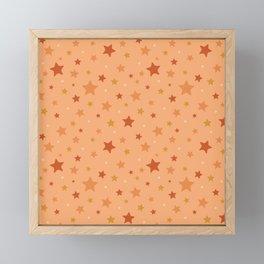 Vintage Star Print Framed Mini Art Print