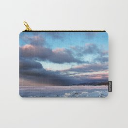 Storm Cloud Across Frozen Bay Carry-All Pouch