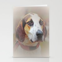 the hound Stationery Cards featuring Hound dog by Doug McRae