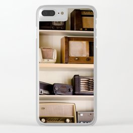 Vintage music Clear iPhone Case