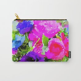 Jewel Tone Florals Carry-All Pouch