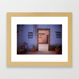 Hacienda Door Framed Art Print
