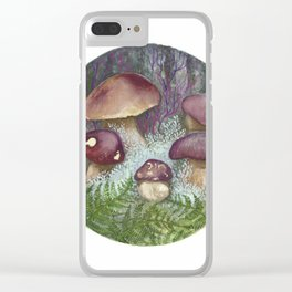 Porcini Mushrooms Clear iPhone Case