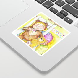 Teddybear tea-time Sticker