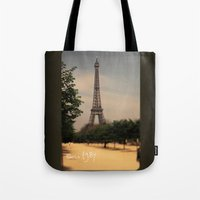 1984 Tote Bags featuring Paris 1984 by Rolfsson