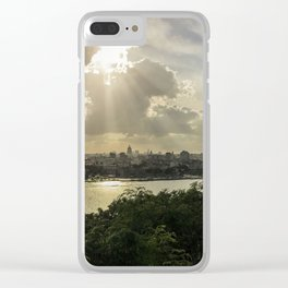 Cuban Sunsets Clear iPhone Case