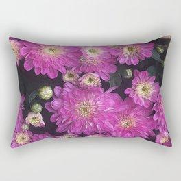 Pink Mums Garden Rectangular Pillow