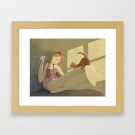 Me & my kitty Framed Art Print