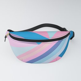 Trendy modern pink blue abstract pattern Fanny Pack