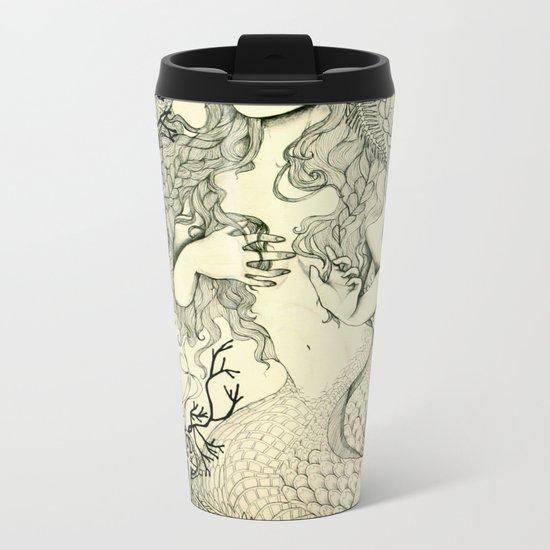 Inverted Mermaid Metal Travel Mug