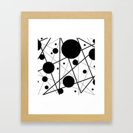 Abstract Lines and Dots Framed Art Print