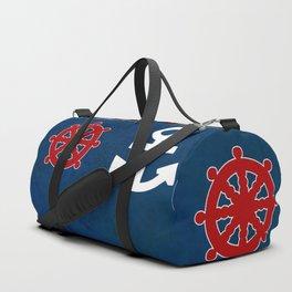 Anchor Ship Wheel Pattern Duffle Bag