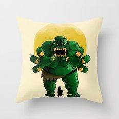 monster green Throw Pillow