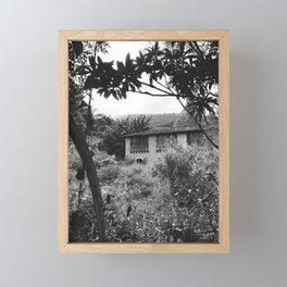 Farm - Black and White Framed Mini Art Print