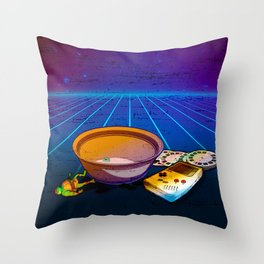 Saturday Mornings Are Dead Throw Pillow