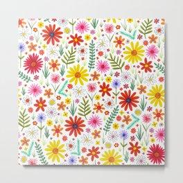 teeny floral pattern Metal Print