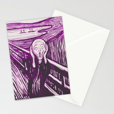 The Scream's Haze (purple) Stationery Cards