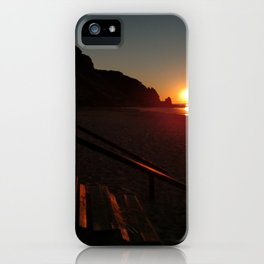 Shack by the sea at sunrise iPhone Case