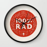 the 100 Wall Clocks featuring 100% Rad by Chase Kunz