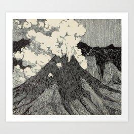 Naturalist Volcano Art Print