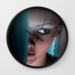 Fairy girl Face Wall Clock