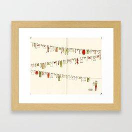 Laundry Framed Art Print