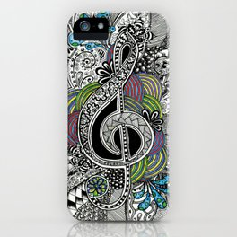 Musical Zentangle iPhone Case